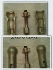 Pair Dnepr MT K750 Ural M72  Sidecar Ball Socket Clamp Jaw with Bolt 2 clamps