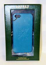 Ralph Lauren iphone 5 case Hardshell  Blue genuine leather Bexley nip nib