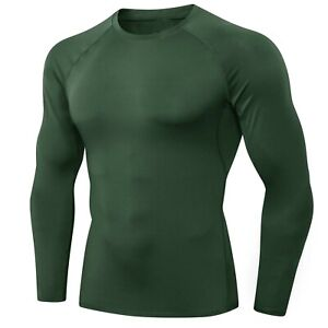SIMBA Fightwear Plain Green BJJ Rash Guard Men MMA Jiu Jitsu Compression Shirt