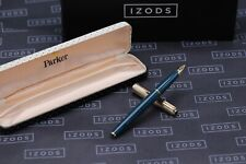 Parker 65 Consort Teal Rolled Gold Fountain Pen