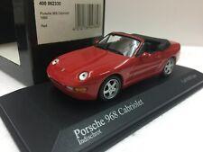 1/43 MINICHAMPS PORSCHE 968 CABRIOLET 1994 RED model car