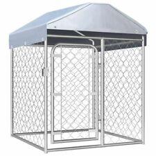 Vidaxl Chenil Extérieur avec toit Chiens 1x1x1 25m Cage Enclos Niche Jardin