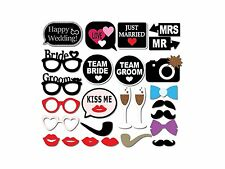 26pcs Photo Booth Party Props Funny Selfie Happy Wedding, Birthday Just Married