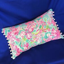 New throw pillow made with LILLY PULITZER Hot On The Scene fabric