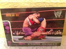WWE CHRIS BENOIT ROYAL RUMBLE 2002 FLEER COLLECTOR TRADING CARD #34 & HOLDER