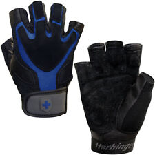 Harbinger 1260 Ventilated Training Grip Weight Lifting Gloves - Black/Blue