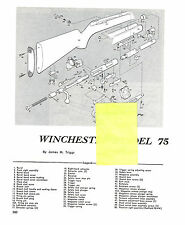 WINCHESTER MODEL 75 RIFLE WITH EXPLODED VIEW PARTS LIST DISASSEMBLY INST AD 1993