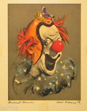 Cydney Grossman (1909-????) 3 Clown Prints c1950s Silkscreens New Orleans
