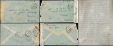 FRENCH CONGO 1944 ARMY CHIEF...AIRMAIL to MADAGASCAR CENSOR to LAILLAC + LETTERS