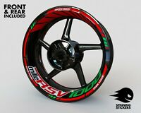 """Wheel Stickers for Aprilia RSV1000 MILLE Rim Tape Motorcycle Decals Graphics 17"""""""