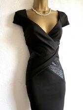 Lipsy black leather bodycon dress size 8