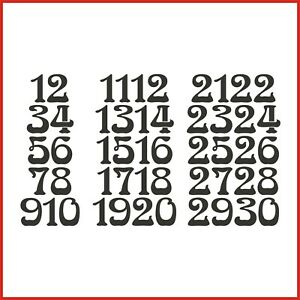 Sticky Back Vinyl Numbers 1-30 Nouveau 10/15/20/30/40/50mm doors signs lockers