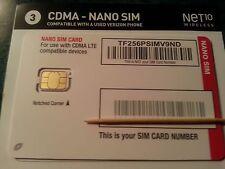 CDMA-NANO SIM Card for Activation with NET10 Wireless {Verizon Wireless network}
