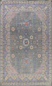 Tribal Vegetable Dye Super Kazak Oriental Area Rug Geometric Hand-knotted 9'x12'