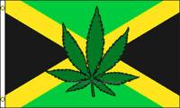 Jamaica Leaf 3x5 Polyester Marijuana Weed Pot International Flag