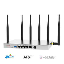 4G LTE Router SIM Card AT&T Verizon T-Mobile Industrial 1200Mbps Hotspot WiFi