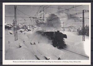 Dampflok 85 008 im Schwarzwald  Aufnahme 1953 Ungelaufen