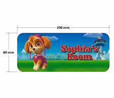 Paw Patrol Skye Door Plaque - Dog Personalised Childrens Bedroom Sign Girls