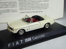 Klasse: Norev Fiat 1500 Cabriolet weiß in 1:43 in OVP