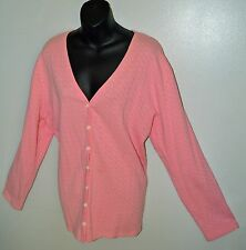 Pink Knit Button Front Cardigan Sweater Plus Size 20/22