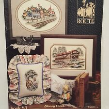 Scenic Route Cross Stitch Pattern Leaflet 83 Stoney Creek 1990 Old Town Bridge