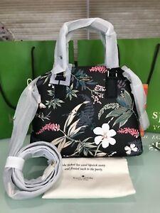 Kate Spade Cameron Street Botanical Lottie Satchel $328 Black