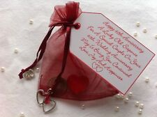 Ruby Wedding Anniversary Lucky Sixpence Gift & Charm – 40th
