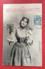 CPA. 1904. L'AIL. Jeune Femme. Bergeret.