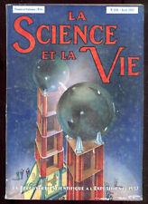REVUE LA SCIENCE ET LA VIE N°238. Avril 1937. DECOUVERTES SCIENTIFIQUES à L'EXPO