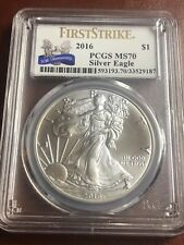 2016 Silver American Eagle MS-70 PCGS (First Strike) 30th Anniversary Issue