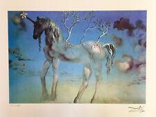Salvador Dali HAPPY UNICORN Facsimile Signed Limited Edition Art Giclee