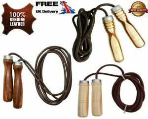 Leather Pro Skipping Rope Quality Leather Gym Fitness Jumping Speed Rope
