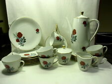 Seltmann Weiden Coffee Pot, 6 cups/Saucers/creamer/sugar/6 plates White/Roses