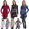 Womens Long Cardigan Casual Sweater with Button Striped Cowl Neck One Size WA29