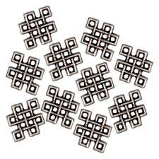 10 Perles connecteur _ Noeud Celtique 12.5x10mm _ Apprêt création bijoux _ A005