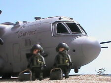 PLAYMOBIL CUSTOM AVION HERCULES C-130 + 2 PILOTOS  REF-002
