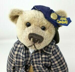 """Brass Button Bears 1999 20th Century 1990's Bennett Bear w/ Stand 12"""" Plush EUC"""