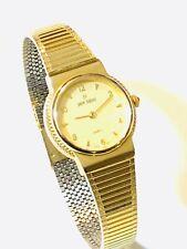 Vintage Pierre Bideaux Women's Quartz  Wrist Watch GoldTone N.O.S(20351M)