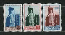 s33519 SAN MARINO 1954 MNH  Statua della Libertà 3v