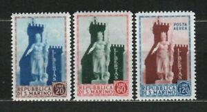 S33519 San Marino 1954 MNH Statue Of Liberty 3v