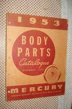 1953 Mercury Body Parts Catalog Original Book Rare Parts Number'S