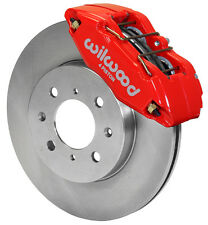 WILWOOD DISC BRAKE KIT,FRONT STOCK REPLACEMENT,HONDA,262mm ROTORS,RED CALIPERS
