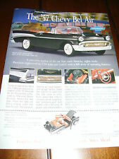 FRANKLIN MINT 1957 CHEVROLET  ***ORIGINAL 1995 AD***