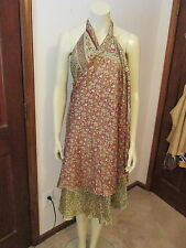 Silk Sun Dress, Two Layers, Multiple Styles Possible, Size Medium, NEW