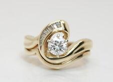GORGEOUS Women's 14K Yellow Gold 2/3 Ct TW Diamond Wedding Ring Set Size 5