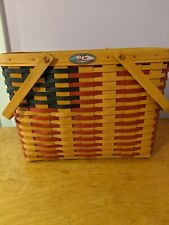 New listing Longaberger Collector's Club 1998 25th Anniversary Flag Basket Protector/Liner