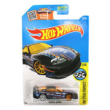 NEW Hot Wheels 1:64 Die Cast Car HW Speed Graphics Blue TOYOTA SUPRA 2/10