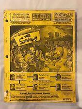 Stern The Simpsons Pinball Party Pinball Manual