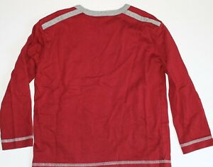Hanna Andersson Boys Long Sleeve Top Tee Red Gray Size 110cm 4 5 6 EUC