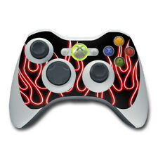 Xbox 360 Controller Skin - Red Neon Flames - Vinyl Decal DecalGirl Sticker